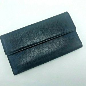 Buxton Blue Pebble Leather Womens Wallet